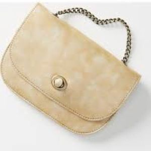 Anthropologie Leanna Crossbody Gold Purse Bag